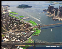 2015 rendering of Brooklyn Bridge Park by Michael Van Valkenburgh Associates, courtesy of MVVA