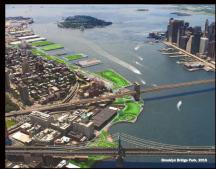 2015 rendering of Brooklyn Bridge Park by Michael Van Valkenburgh Associates, courtesy of MVVA